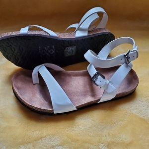 Pretty white sandals
